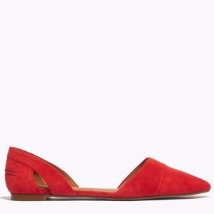 Madewell d'Orsay flats in Coral Suede - 8.5